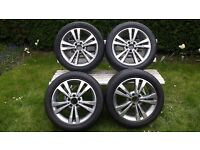17 inch Mercedes E class (alloys) alloy wheels with tyres 4 x 245/45/R17