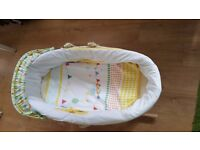 Unused mother care moses basket with Stand available in £30
