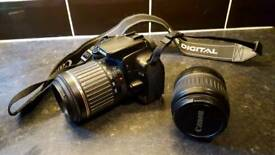 Canon EOS400D with two lenses
