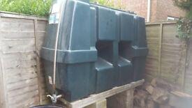 1225 litre heating oil tank.