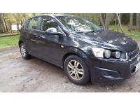 Black Chevrolet Aveo 2012, 5 doors, very economical, 39949miles, 2nd owner, non-smokers car.