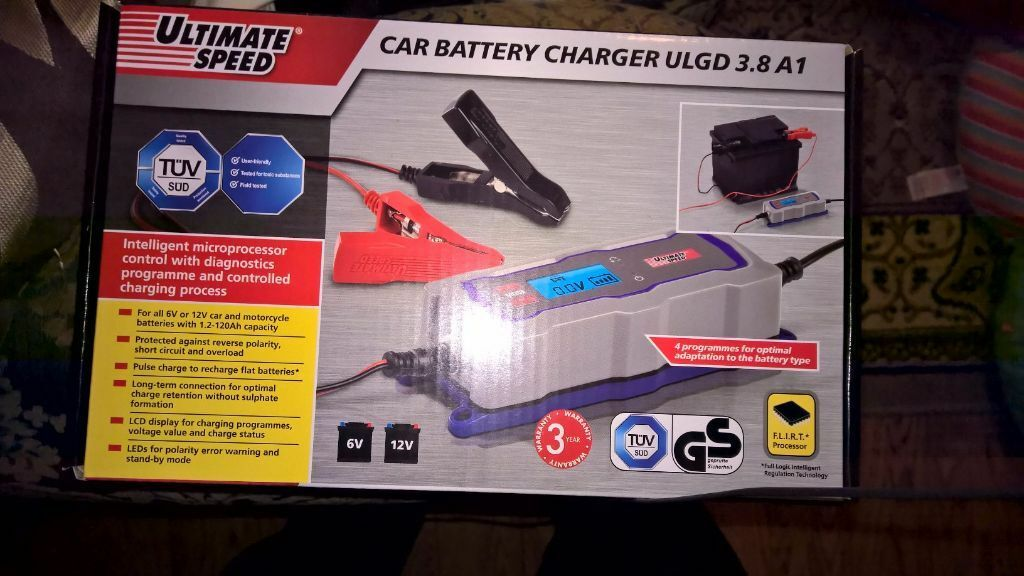 Ultimate Speed Car And Motorcycle Battery Charger Ulg 3 8