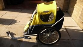 Raleigh double childs bike trailer