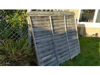 Fencing panels 6×5 ft x4