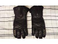 Aqua leather bike gloves