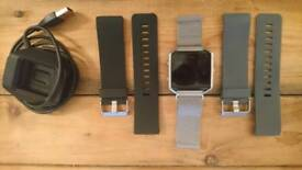 Fitbit Blaze with metal strap plus two additional straps