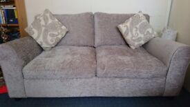 Tabitha 2 seater fabric sofa bed in mink £240