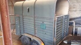Rice double horsebox trailer