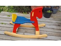 Desk and Rocking Horse - £5 each