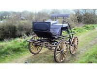 Horse drawn carriage four wheel backstep scurry cart