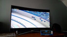 "Samsung 49"" curved smart tv like new"