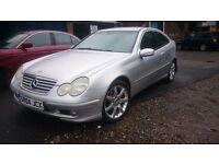 2004 MERCEDEZ BENZ C220 COUPE..AUTOMATIC..LONG MOT..CLEAN CAR...