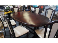 Dining Table 6 Chairs Wood - Almost New