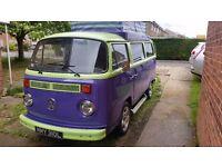 Vw 1973 bay window campervan