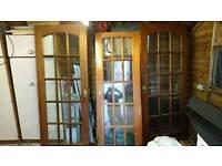Glass panelled doors