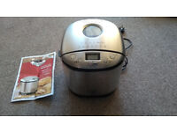 Bread Maker Dunelm Stainless Steel with manual and recipies,used once