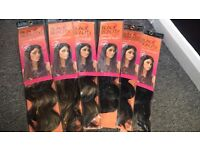 Synthetic heat tolerant hair extentions