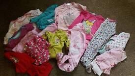 18-24m Girls vests and PJs bundle