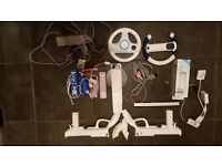 Wii Console, Games, Wii Fit, Rock Band plus accessories bundle