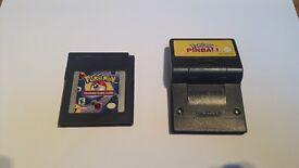 Gameboy Pokemon Pinball and Trading Card Game