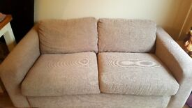 2 seater ikea sofa (incl throw & cushions if wanted)