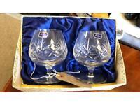 Vintage crystal brandy glasses