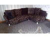 Lovely corner sofa + chair + footstool excellent condition from a pet and smoke free home