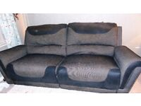 Re-advertising 3 seater modern recliner sofa and matching chair £75 for quick sale