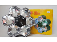 DISCO LIGHTS PARTY LIGTS 6-WAY LED SOUND ACTIVATED SPEED CONTROL
