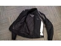 Black motorbike jacket (Weise), very good condition, waterproof and high protection, medium size