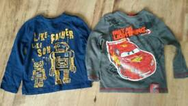 Boys long sleeved tshirts age 3-4 years