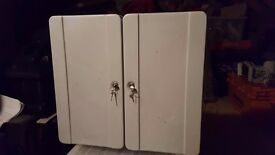 key cabinet, double, solid steel with locks