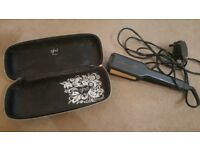 Wide ghd straighteners with case