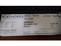 The Miser, 3 tckts @Garrick theatre