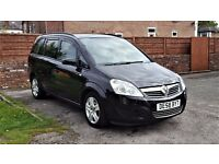 2008 VAUXHALL ZAFIRA 1.6 EXCLUSIVE, 79,OOO MILES, 2FORMER KEEPERS, 12 MONTHS MOT, 2KEYS, HPI CLEAR