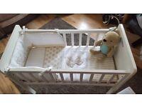 Mothercare hyde crib & bedding