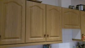 Kitchen cupboard door and drawer fronts only, with hinges and handles