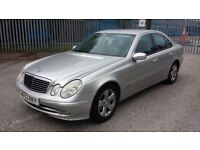 MERCEDES E200 CLASS avantgarde, 79k miles, f/s/h and mot, luxury, 1.8 petrol, automatic £1499 ono