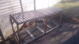 Potting bench greenhouse shed