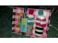 Egg cups and cosy set