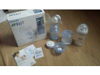 Philips Avent manual brest pump + accesories