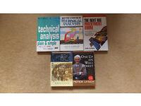 5 Stock market investment books. Like new