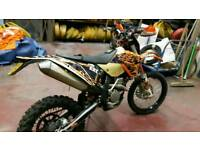 Ktm 250 enduro road registered 2008 4 stroke