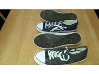 2 pairs mens converse style trainers size 11