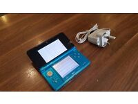 Nintendo 3DS Handheld Console - Aqua Blue - Unboxed with Charger.