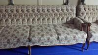beautiful antique sofa and matching chair