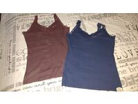 Ladies Superdry Lacy Vests x 2. Size 12-14. New without tags
