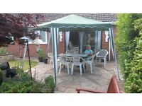 Six sided Garden Awning with detachable sides. .