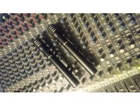 Shure PG81 condenser microphones (pair)