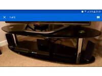 Black glass tv unit and free coffee table